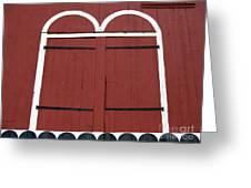 Old Red Kutztown Barn Doors Greeting Card