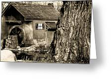 Old Red Mill Greeting Card