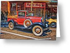 Old Red Pickup Truck Greeting Card
