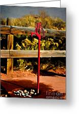 Old Red Pump Greeting Card