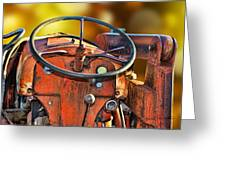 Old Red Tractor Ford 9 N Greeting Card