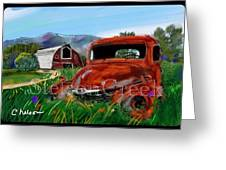 Old Red Truck Greeting Card