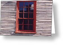 Old Red Window Greeting Card