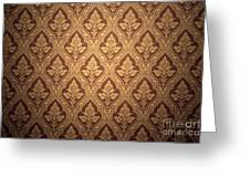 Old Retro Wallpaper In Sepia Greeting Card