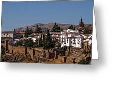 Old Ronda Panoramic. Andalusia. Spain Greeting Card