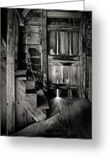 Old Room - Rustic - Inside The Windmill Greeting Card by Gary Heller