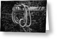 Old Rope Greeting Card