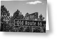 Old Route 66 And Cool Pines Greeting Card