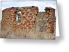 Old Ruin Abandoned Greeting Card