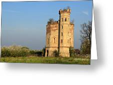 old ruined castle in Serbia Greeting Card