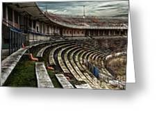 Old Ruined Stadium Greeting Card