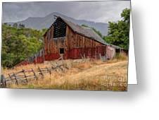 Old Rural Barn In Thunderstorm - Utah Greeting Card
