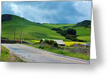 Old Rural Road On The Way To Heavenly Lands Greeting Card