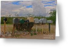 Old Rural Route Greeting Card