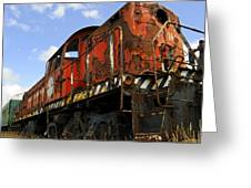 Old Rusted Locomotive Greeting Card