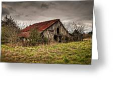 Old Rustic Barn Greeting Card