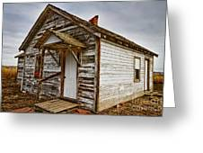 Old Rustic Rural Country Farm House Greeting Card