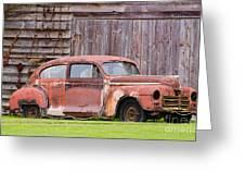Old Rusty Car Greeting Card