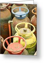 Colorful Fire Extinguishers Greeting Card