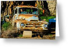 Old Rusty International Flatbed Truck Greeting Card