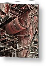 Old Rusty Pipes Greeting Card