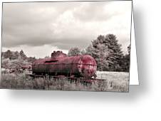 Old Rusty Tanker  2 Greeting Card