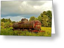 Old Rusty Tanker Greeting Card