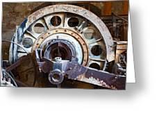 Old Rusty Vintage Industrial Machinery Greeting Card by Dirk Ercken