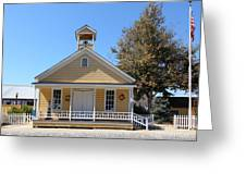 Old Sacramento California Schoolhouse 5d25541 Greeting Card by Wingsdomain Art and Photography