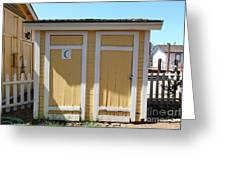 Old Sacramento California Schoolhouse Outhouse 5d25549 Greeting Card by Wingsdomain Art and Photography