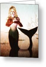 Old Sailors Dream - The Mermaid Greeting Card