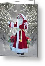 Old Saint Nick Greeting Card