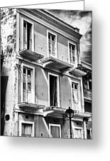 Old San Juan Architecture Greeting Card by John Rizzuto