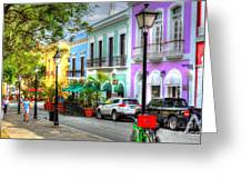 Old San Juan Street Greeting Card
