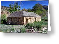 Old Sandstone Brick Farm House Nine Mile Canyon - Utah Greeting Card