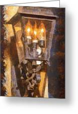 Old Santa Fe Lamp Greeting Card
