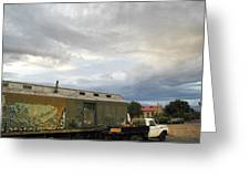 Old Santa Fe Railyard Greeting Card