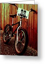 Old School Bmx - Jag Greeting Card