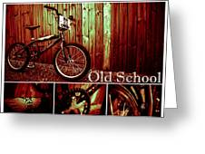 Old School Bmx - Pk Collage Colour Greeting Card