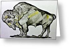 Old School Buffalo Greeting Card
