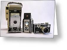 Old School Cameras Greeting Card
