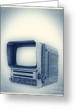 Old School Television Greeting Card