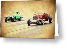 Old Scool Racing Greeting Card