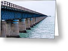 Old Seven Mile Bridge Greeting Card