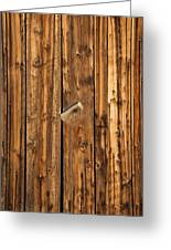 Old Shed Door Greeting Card
