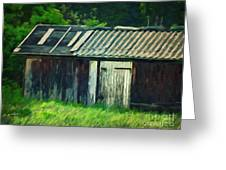 Old Shed Greeting Card