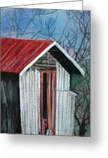 Old Shed Greeting Card by Shirley Shepherd
