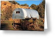 Old Sheepherder's Wagon Greeting Card