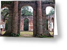 Old Sheldon Ruins Archway Greeting Card
