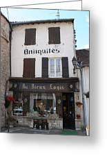 Old Shop In Tournus Greeting Card